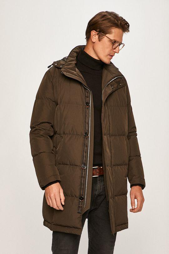 okrová Pierre Cardin - Péřová bunda