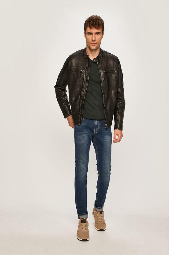 Pepe Jeans - Kožená bunda Dannys čierna
