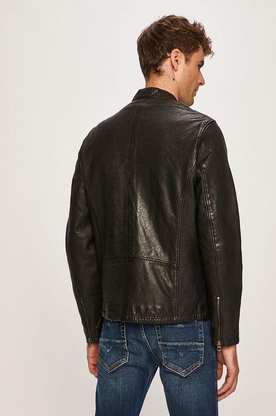 Pepe Jeans - Kožená bunda Dannys  Podšívka: 100% Bavlna Základná látka: 100% Prírodná koža Podšívka rukáva: 100% Polyester
