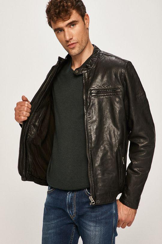 Pepe Jeans - Kožená bunda Dannys