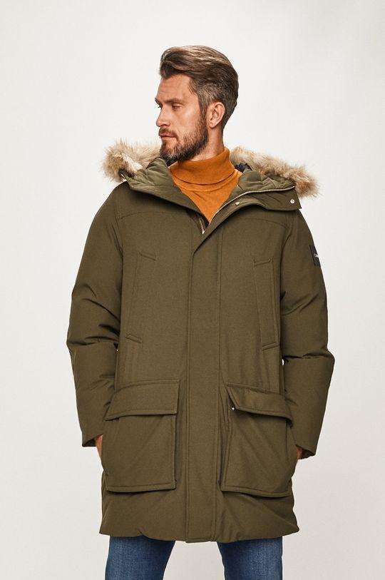 tlumená zelená Calvin Klein - Bunda Pánský