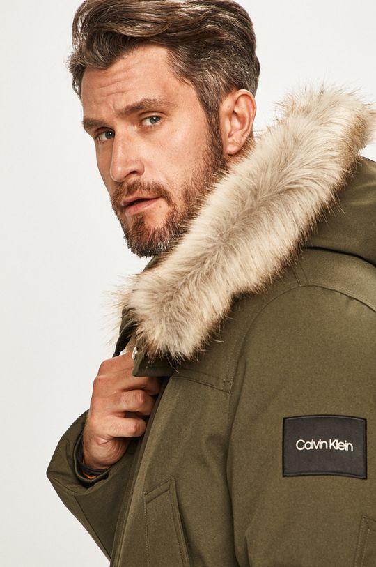 tlumená zelená Calvin Klein - Bunda