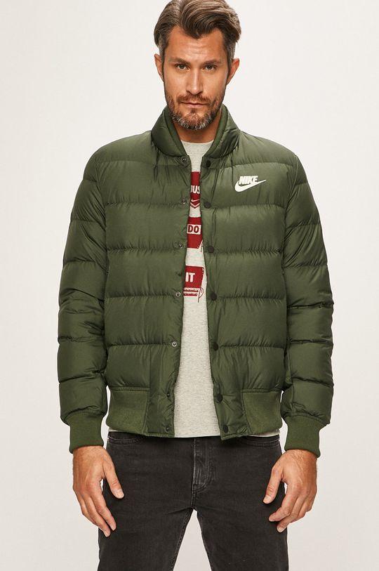 tlumená zelená Nike Sportswear - Péřová bunda Pánský