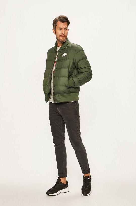 Nike Sportswear - Péřová bunda tlumená zelená