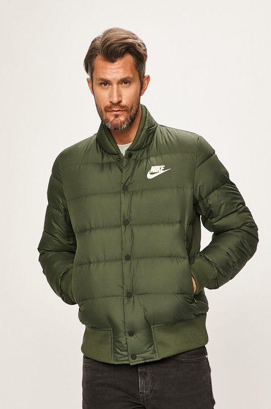tlumená zelená Nike Sportswear - Péřová bunda