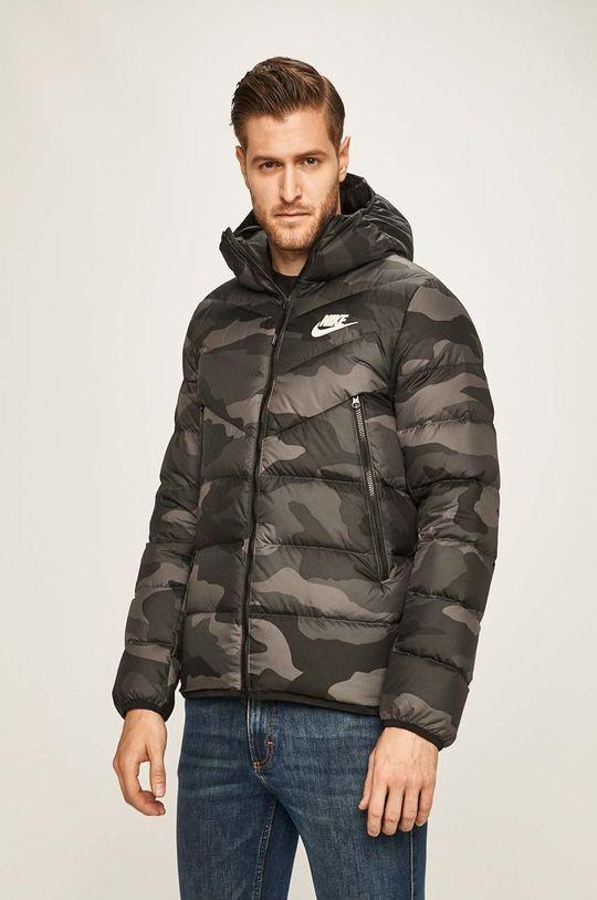 grafitová Nike Sportswear - Péřová bunda Pánský