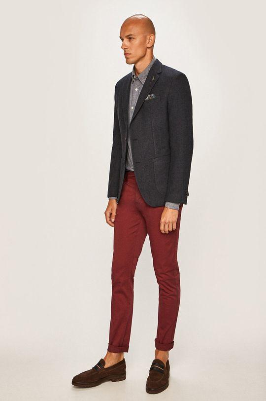 Pierre Cardin - Sako Podšívka: 100% Polyester Hlavní materiál: 30% Bavlna, 6% Polyamid, 25% Polyester, 34% Vlna, 5% Jiný materiál