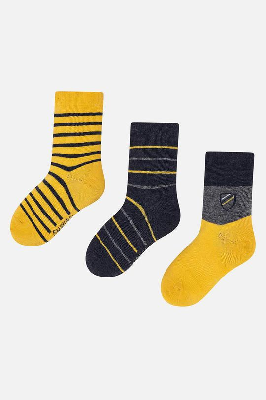 jantárová Mayoral - Detské ponožky (3-pack) Chlapčenský