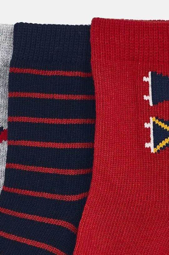 Mayoral - Detské ponožky (3-pack) červená