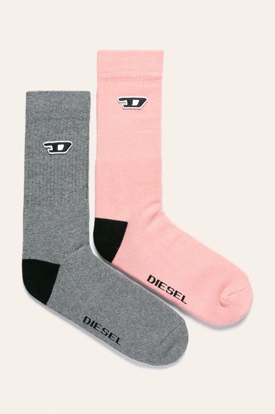 ružová Diesel - Ponožky (2-pak) Dámsky