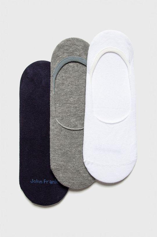 bílá John Frank - Ponožky (3-pack) Dámský