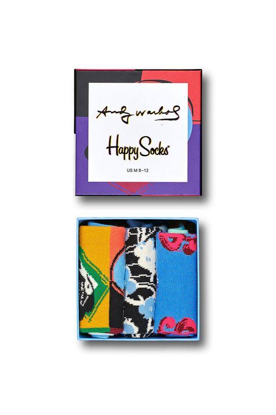 vícebarevná Happy Socks - Ponožky (3-pack) Dámský