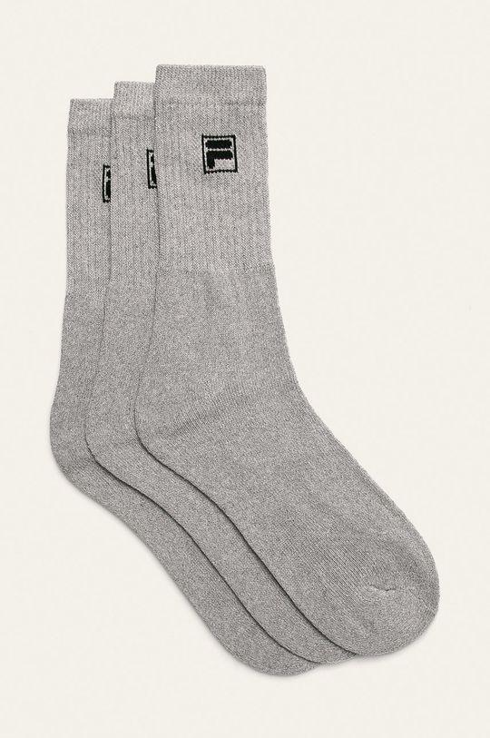 svetlosivá Fila - Ponožky (3-pak) Dámsky