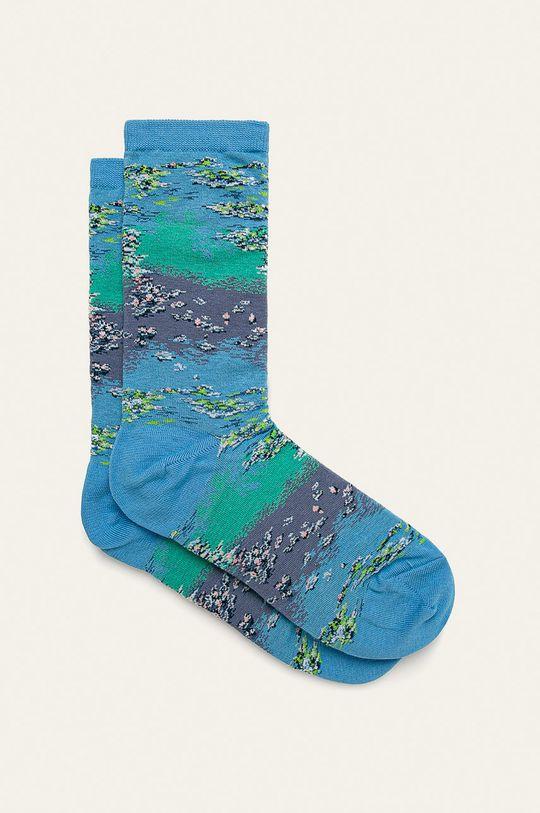 albastru HotSox - Sosete Monet Waterlillies-Claude Monet De femei