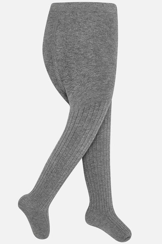 Mayoral - Detské pančuchy 92-152 cm sivá