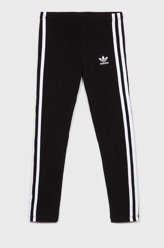 czarny adidas Originals - Legginsy dziecięce 128-170 cm Dziewczęcy