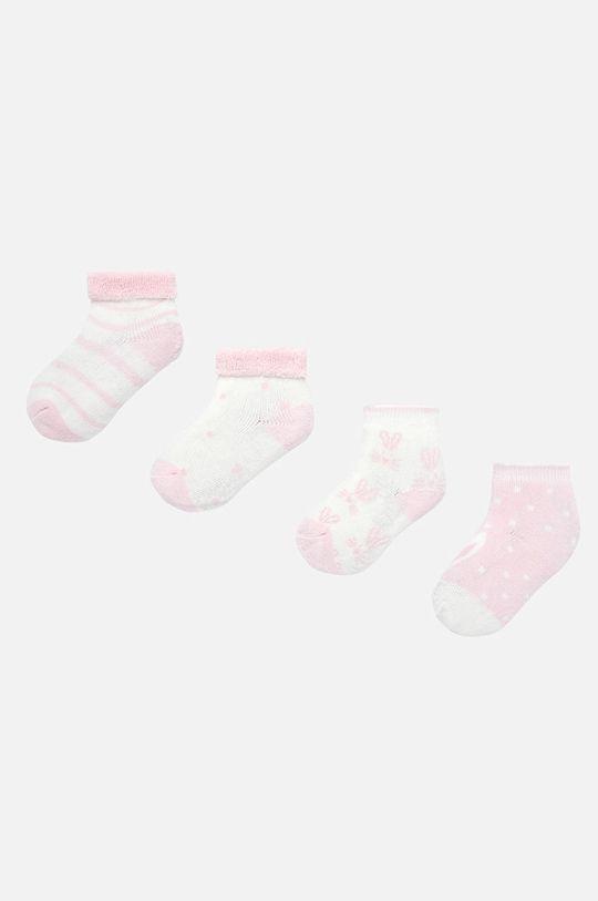 розов Mayoral - Детски чорапи (4-бройки) 62-86 cm Дитячий