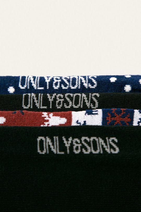 Only & Sons - Ponožky (4 pak) tmavomodrá