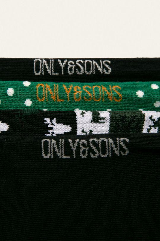 Only & Sons - Skarpety (4 pack) stalowy zielony