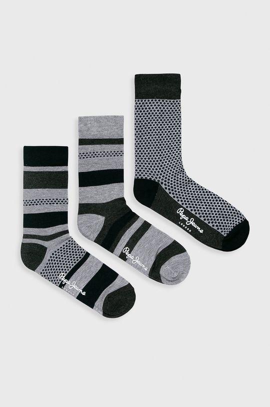sivá Pepe Jeans - Ponožky Annis (3-pak) Pánsky