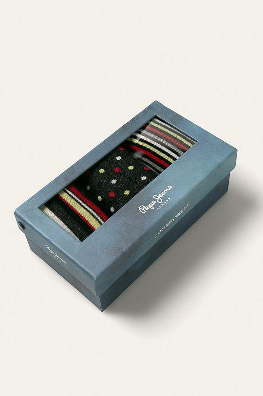 Pepe Jeans - Ponožky Rainer (3-pack) červená