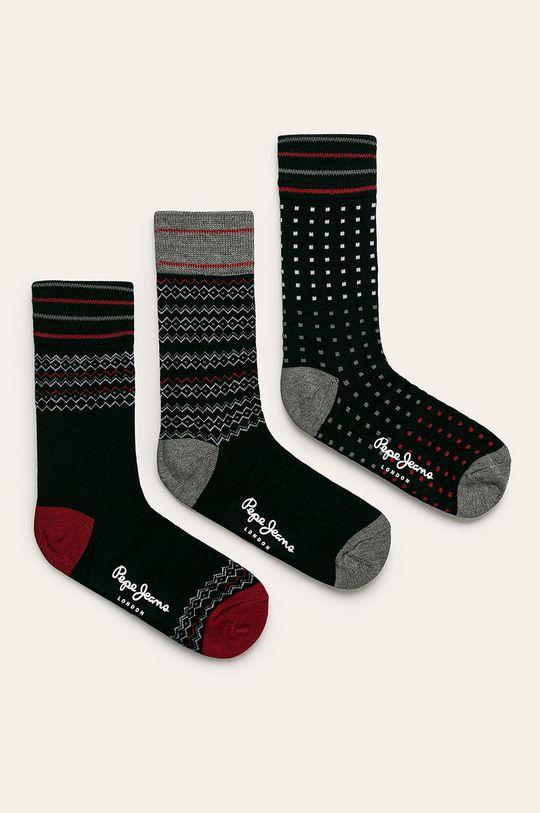 Pepe Jeans - Ponožky Paget (5 pack) čierna