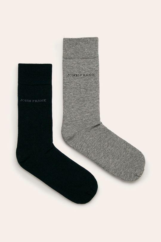 sivá John Frank - Ponožky (2-pak) Pánsky