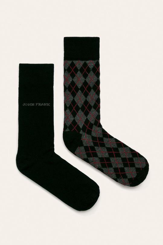 čierna John Frank - Ponožky (2 pak) Pánsky