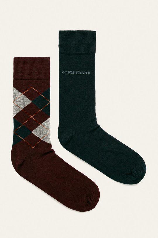 tmavomodrá John Frank - Ponožky (2-pak) Pánsky