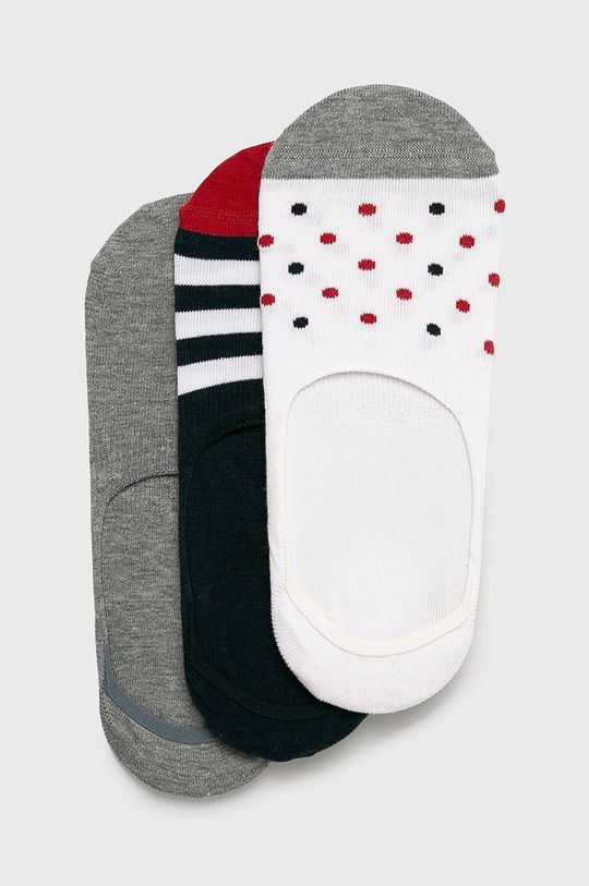 bílá John Frank - Ponožky (3 pack) Pánský