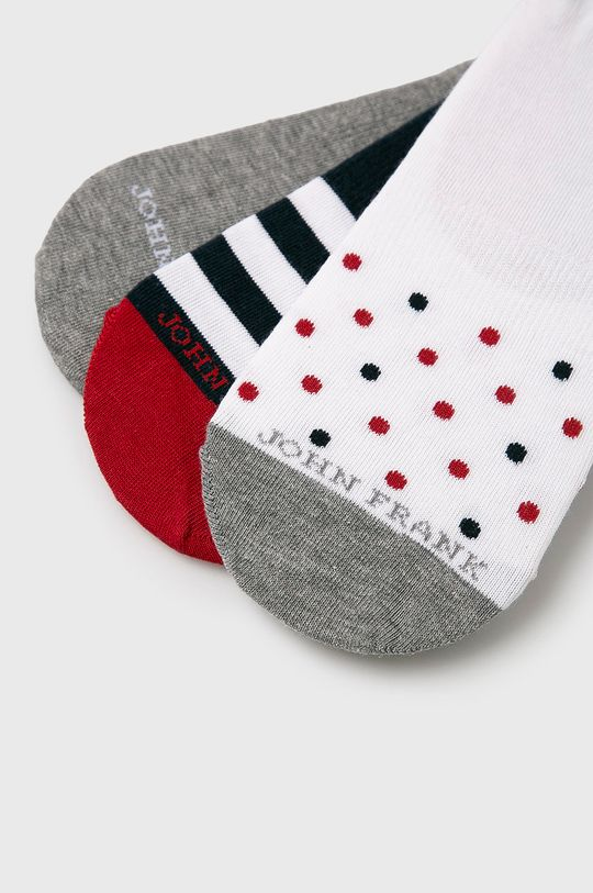 John Frank - Ponožky (3 pack) bílá