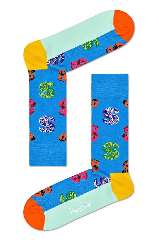 modrá Happy Socks - Ponožky Dollar Sock x Andy Warhol Pánsky