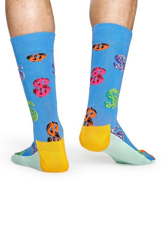 Happy Socks - Ponožky Dollar Sock x Andy Warhol modrá