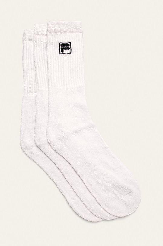 bílá Fila - Ponožky (3-pack) Pánský