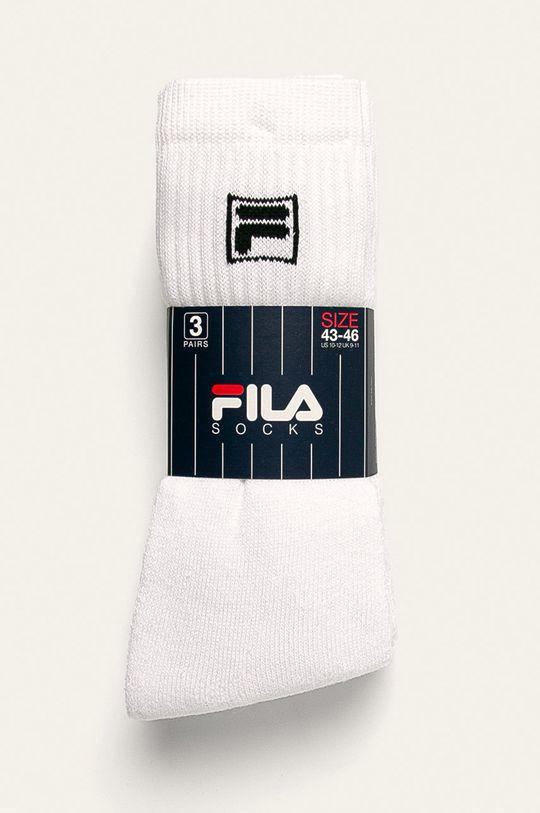 Fila - Ponožky (3-pack) bílá