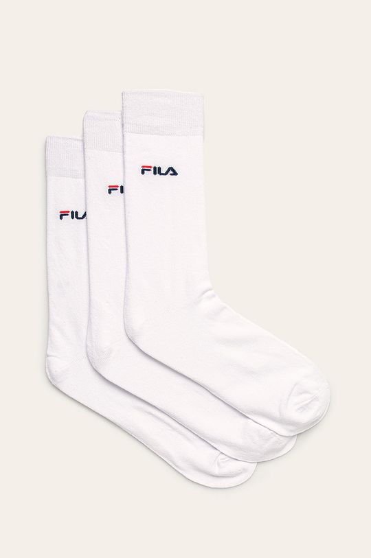 biały Fila - Skarpety (3 pack) Męski