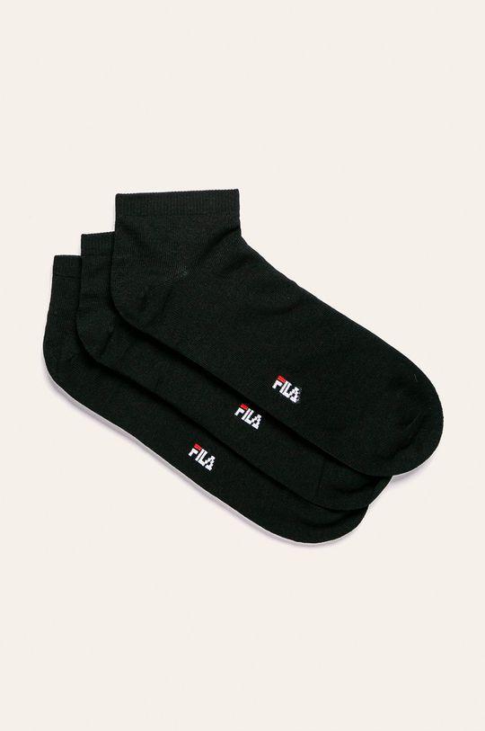 černá Fila - Ponožky (3-pack) Pánský