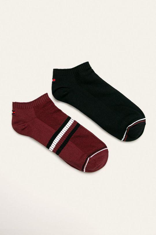 kaštanová Tommy Hilfiger - Ponožky (2 pack) Pánský
