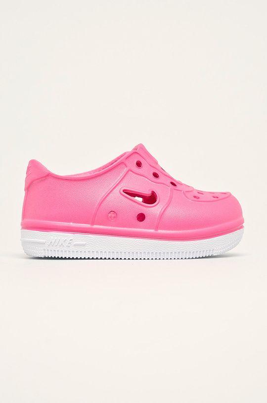 ružová Nike Kids - Detské topánky Foam Force 1 Chlapčenský