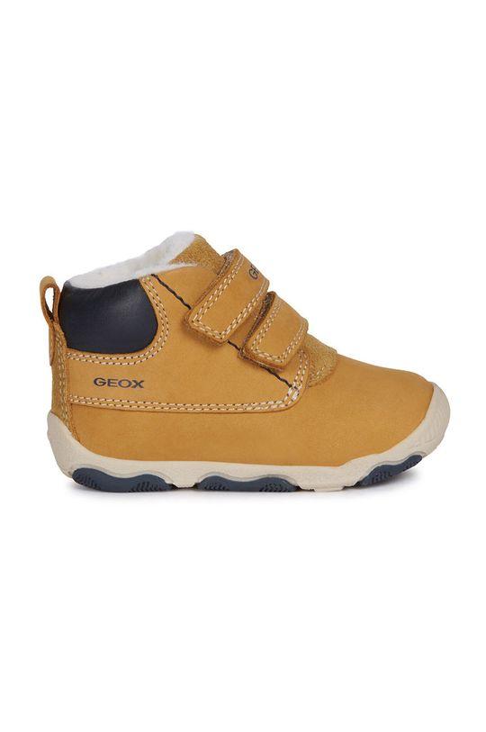 olivová Geox - Dětské boty Chlapecký