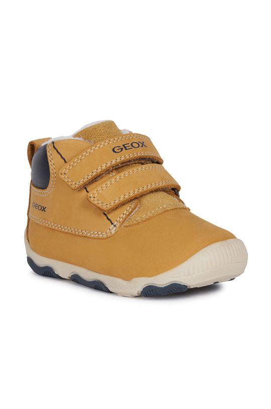Geox - Dětské boty olivová