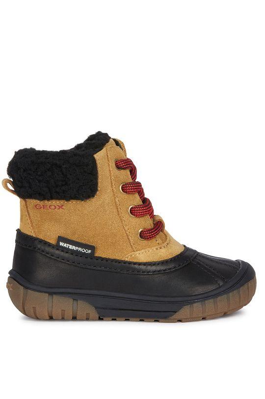 olivová Geox - Detské topánky Chlapčenský