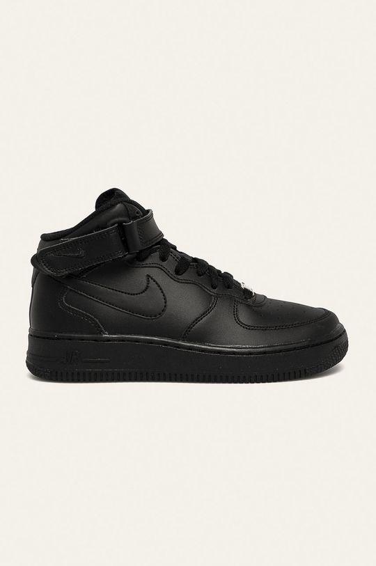 чорний Nike Kids - Дитячі черевики Air Force 1 Mid Для хлопчиків