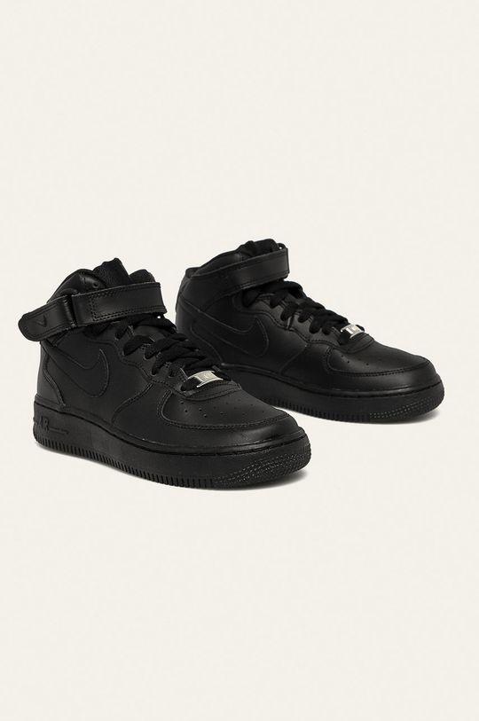Nike Kids - Дитячі черевики Air Force 1 Mid чорний