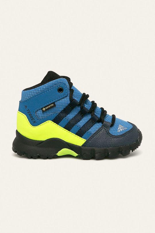 niebieski adidas Performance - Buty dziecięce Terrex Mid Gtx I Chłopięcy