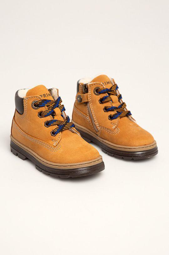 Primigi - Dětské boty zlatohnědá