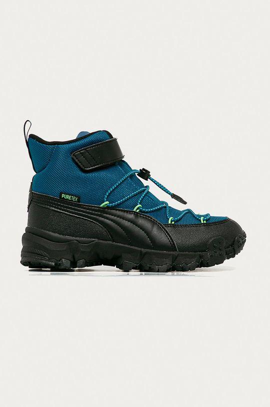 modrá Puma - Detské topánky Maka Puretex V Chlapčenský