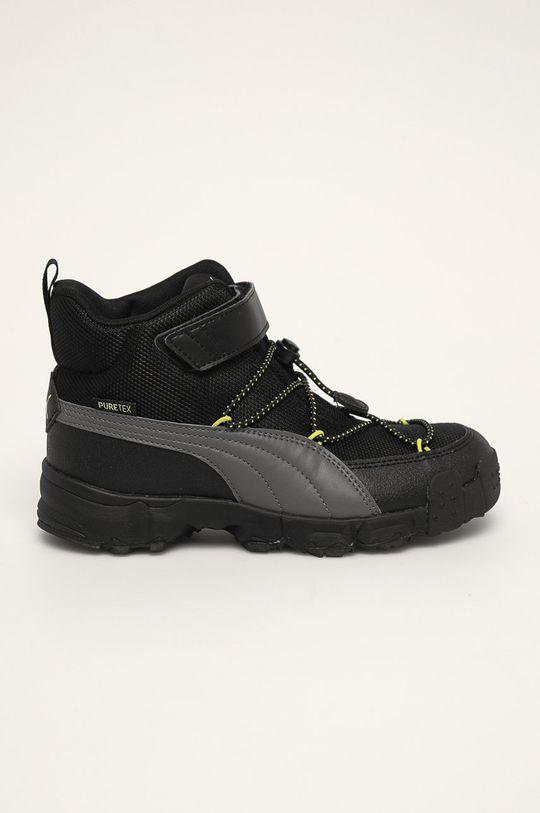 černá Puma - Dětské boty Chlapecký