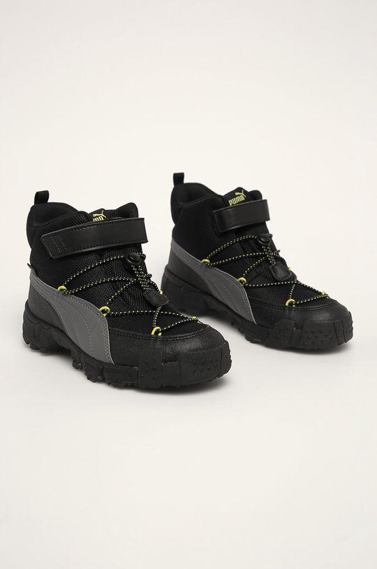 Puma - Dětské boty černá