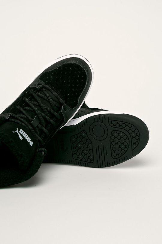 čierna Puma - Detské topánky Rebound Layup Fur SD